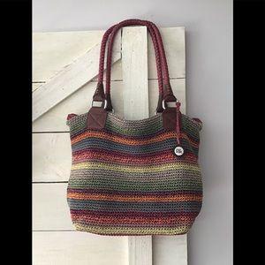 Sak Mesh Shoulder Bag Multi Color Stripe